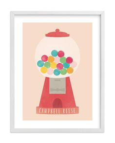 """Sweet & Bubbly"" - Children's Custom Art Print by Anne Holmquist in beautiful frame options and a variety of sizes."