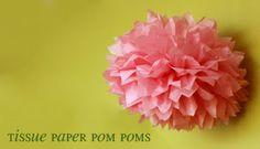 Shop Contemporary Handmade: DIY Tissue Paper Pom Poms