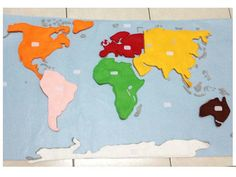 The world map by sewsmarthome on etsy quiet book inspiration the world map does your child know the continents if not heres an amazing gumiabroncs