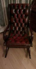 Extremely Rare Leather Chesterfield  Rocking Chair