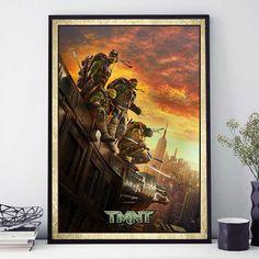 TNMT Poster, Teenage Mutant Ninja Turtle Print, Wall Decor, Teenage Ninja Turtles Gift, Leonardo, Rafael, Michelangelo, Donatello (N4065) by PointDot on Etsy