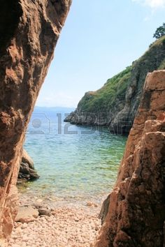 enterance to small beach in Vrbnik, island Krk, Croatia
