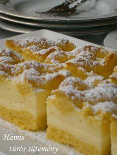 Hungarian Recipes, Hungarian Food, Vanilla Cake, Cheesecake, Vaj, Cukor, Cookies, Sweet, Kuchen
