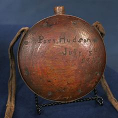 Civil War Confederate Canteen, note the Port Hudson reference