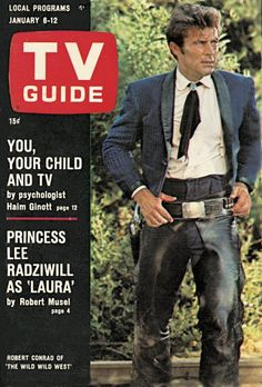 TV Guide January 6, 1968 (Robert Conrad of The Wild Wild West)