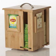 Boîte à thé rotative - Bambou - Beige SECRET DE GOURMET #woodworkingideas