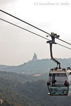 Cable car to the statue of Giant Buddha, Hong Kong