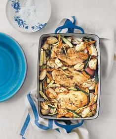 Rosemary Chicken With Zucchini AB: Really easy to make and quite tasty! @realsimple