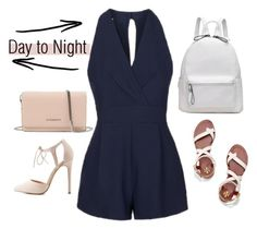 >> • Day to Night Rompers • << by gabbyfangirl on Polyvore featuring polyvore fashion style Topshop Tory Burch Charlotte Russe Givenchy clothing