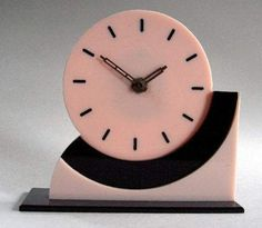 Art Deco table clock, French. @designerwallace