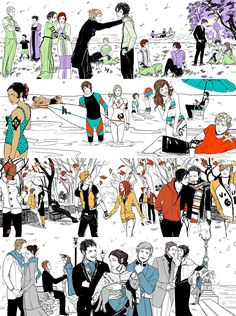 Four seasons as the four Shadowhunter series: The Spring The Last Hours, The Summer Dark Artifices, The Autumn Mortal Instruments, and The Winter Infernal Devices.