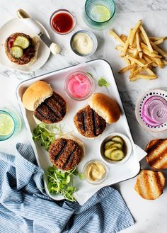 The best veggie burger recipe! These hearty vegan patties won't fall apart on the grill, and they have a delicious savory flavor and meaty texture. Burger Recipes, Grilling Recipes, Vegetarian Recipes, Cooking Recipes, Healthy Recipes, Vegan Veggie Burger, Vegan Burgers, Whole Food Recipes, Dessert Recipes