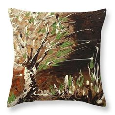 Shadows Throw Pillow by Holly Carmichael