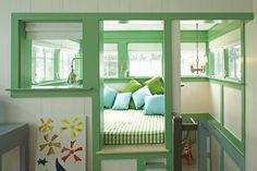 Reading Nook - House of Turquoise: Historical Concepts + Steven Gambrel - Mint Green Decor, Mint Green Walls, Blue Green Paints, Green Paint Colors, Built In Daybed, Historical Concepts, Paint Combinations, House Of Turquoise, Cozy Nook