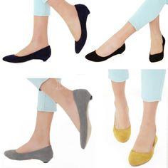 Girls Low Heel Suede Comfortable Single Shoes