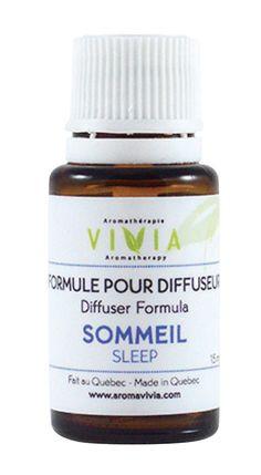Formule Diffuseur - Sommeil - Ingrédients : huile essentielle pure et biologique de Lavande vraie, Absolu de benjoin. - Référence : 036751 #Quebec #Santé #Beauté #Cadeau #Fête #Maison