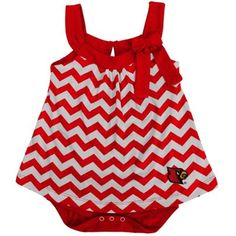 Louisville Cardinals Girls Infant Emily Creeper with Skirt – Red
