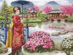 Japanese Garden - Cross Stitch Kit