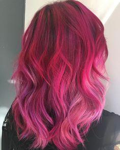 Raspberry Mermaid Melt  Hair by @fiollahairstylist http://www.qunel.com/  fashion street style beauty makeup hair men style womenswear shoes jacket