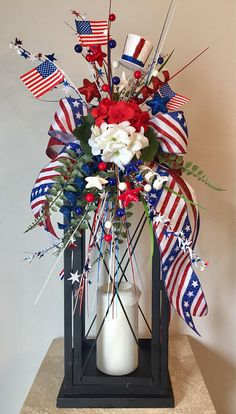 Festive patriotic of july, memorial / labor day holiday lantern swag ta Fourth Of July Decor, 4th Of July Celebration, 4th Of July Decorations, 4th Of July Party, July 4th, 4th Of July Wreath, Birthday Decorations, Patriotic Crafts, Patriotic Party