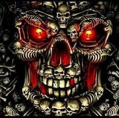 Totally wicked skull artwork.