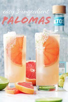 Easy 3-Ingredient Palomas