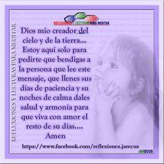 Oración (Dios mio, creador del cielo y de la tierra...)