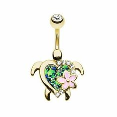 Golden Sea Turtle Belly Bar|Belly Rings Australia. Bellylicious – bellylicious