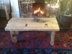 Driftwood and 200 year old reclaimed timber coffee table (100cmx45cmx40cm high) on Etsy, £178.00