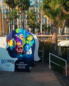 Installing our #BoothUp for @DisneyPixar at @Festival_Cannes #Cannes2015 #InsideOut #connectedphotos