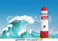 a-lighthouse-in-the-middle-of-the-sea-with-high-waves_gg65509321.jpg (450×325)