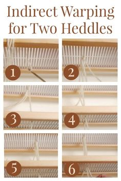 Learn how to indirectly warp your rigid-heddle loom when using two heddles. Now you're ready to weave more complex patterns, even doubleweave!