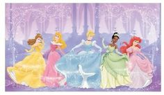 Perfect Princess Chair Rail Prepasted Mural 6 x 10.5 ft. modern decals