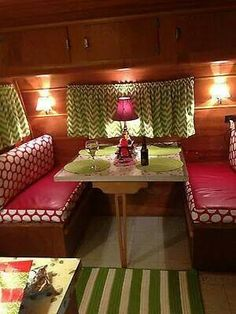 Vintage camper's color scheme and design.