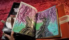 page for a altered book, personal journal with forgotten painting σελίδα σε πειραγμένο βιβλίο για προσωπικό άλμπουμ με ξεχασμένη ζωγραφιά Altered Books, Painting, Journal, Artwork, Work Of Art, Auguste Rodin Artwork, Book Art, Painting Art, Paintings