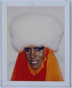 Grace Jones Polaroid by Andy Warhol
