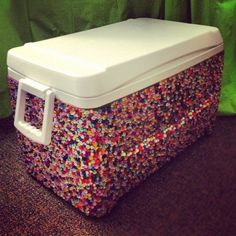 What the ?!?!!? this is awesome!!!! bedazzled cooler (ice chest)