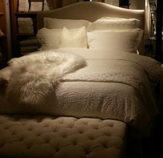 Pottery Barn white bedding