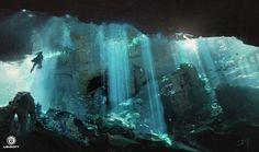 ArtStation - Assassin's Creed IV: Black Flag - Underwater Ruins, Donglu Yu