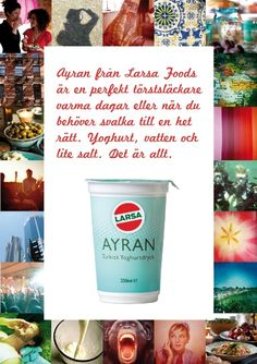 Ayran by Larsa!  A perfect healthy option in between meals