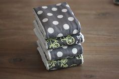 howto sew burpcloths | Tutorial: How to make Burp Cloths