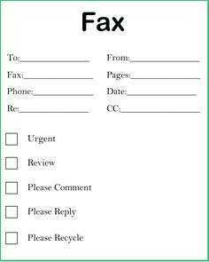 4+ Free Printable Blank Fax Cover Sheet Template