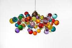 Pendentif en plafond lumière avec bulles par yehudalight sur Etsy