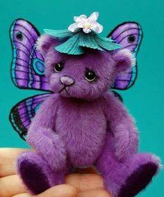 Purple Butterfly Teddy