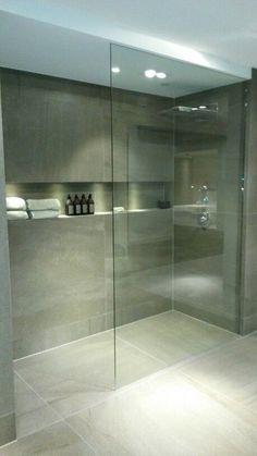contemporary bathroom design - home inspirations - Bathroom Decor Modern Bathroom Design, Bathroom Layout, Bathroom Toilets, Large Shower, Bathroom Interior, Bathroom Renovations, Contemporary Bathroom Designs, Bathroom Shower, Bathroom Decor