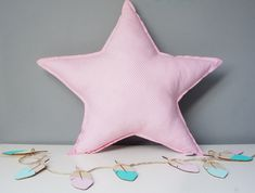 Pillow Cushion Softie Kids Girl Boy - Big star,colours and pattern to choose by MamaPotrafi on Etsy