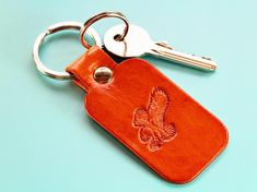 Click To Shop Now – Handmade Leather Keyring, Leather Keychain, Why not check out my Etsy shop? #eagle #keyring #leather #keychain #animal #handstamped #birthdaygift #christmasgift Leather Bookmark, Leather Keyring, Leather Gifts, Handmade Leather, Handmade Father's Day Gifts, Handmade Birthday Gifts, Handmade Christmas Gifts, Leather Anniversary Gift, Great Anniversary Gifts