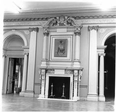Ballroom facing organ hall and living room : Art exhibit Oct 1965 Whitemarsh Hall - thanks to the Fans of Whitemarsh Hall Facebook group
