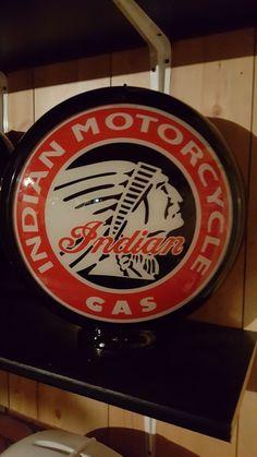 indian motorcycle gas pump globe