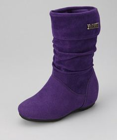 Take a look at this Purple Zip-Up Missouri Boot by PINKY FOOTWEAR on #zulily today!
